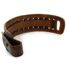 Brown Laced Leather Strap Bracelet