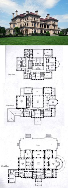 Floorplans for Gilded Age Mansions. - SkyscraperPage Forum The Breakers, Newport, Rhode Island