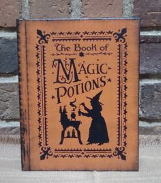 "Potions: ""The Book of Magic #Potions,"" Prim Blank Journal with Lined Pages."