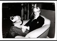 ...as a pittsburgh citizen, i must pin this photo of andy warhol with a cat. just the rules, y'know?