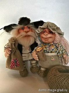 домовой и домовушка - текстильные и тканые изделия, авторская кукла. МегаГрад - портал авторской ручной работы