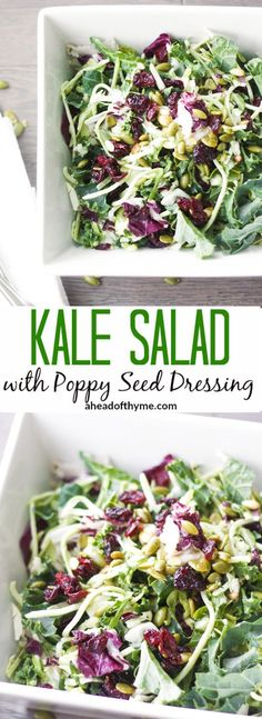 Kale Salad with Poppy Seed Dressing: Get your kale fix with this delicious kale…