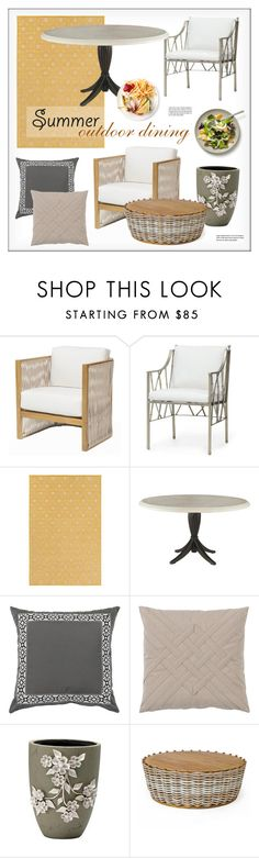 Outdoor Dining by kathykuohome on Polyvore featuring interior, interiors, interior design, home, home decor, interior decorating, Freddy, homedecor, outdoorliving and summeroutdoordining