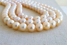 Freshwater Pearl Gemstone Pastel Peach by somsstudiosupplies, $35.00