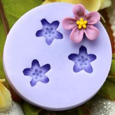 3 tropical flower set silicone mold