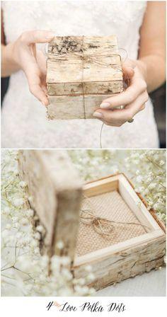 Beautiful handmade boho birch bark wooden ring bearer box ! #weddingideas #boho #ring #weddingring #weddingideas #handmade #birrchbark