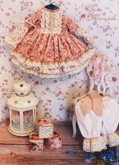 Одежда для кукол ручной работы. Одежда для кукол. Комплект одежды, бохо, шебби шик. Елена Коноплёва (Добрые куклы). Интернет-магазин Ярмарка Мастеров.