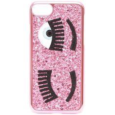 CHIARA FERRAGNI I-Phone 7 Glitter Case (1.610 RUB) ❤ liked on Polyvore featuring accessories, tech accessories and chiara ferragni