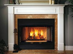 fireplace mantle | gas-fireplace-with-custom-mantle