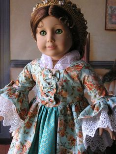 1770's Style Gown for American Girl Doll by blinkersoh on Etsy