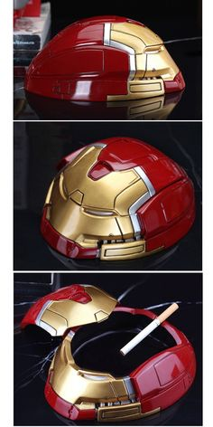 Resin Ironman Ashtray Cool Shapes, Resin Material, Men Design, Cool Pins, Gifts For Father, New Fashion, Iron Man, Cool Designs, Best Gifts