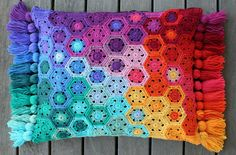Hexagon Pixel cushion | Flickr - Photo Sharing!