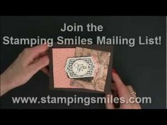 Make a vintage card with the Stampin' Up! Chalk Talk stamp set - YouTube