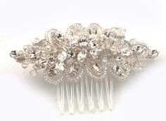 Swarovski Crystal Haircomb©Bridal by AnnieLaurieBridal on Etsy