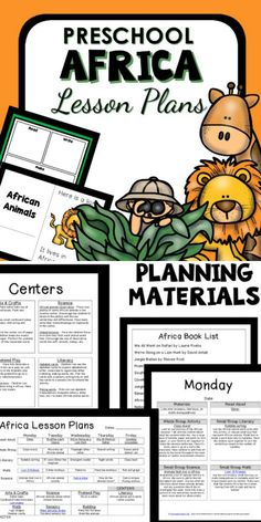 Africa Theme Preschool Classroom Lesson Plans. Learn about African animals with your preschoolers in this engaging Africa theme lesson plan set with ideas for reading, math, science & more. (AD)