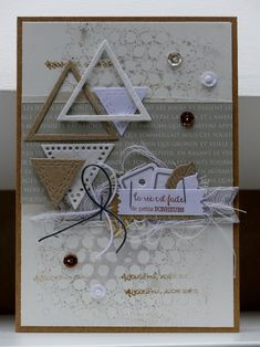 Inspiration {Tons neutres} du 16 Mars 2018 - Page 7 Bday Cards, Birthday Cards For Men, Friend Birthday Gifts, Man Birthday, Birthday Wishes, Photo Album Scrapbooking, Scrapbook Cards, Card Making Templates, Mini Albums Scrap