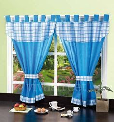 Learn step by step how to sew a curtain with a clip ~ .- Aprende paso a paso cómo coser unas cortinas con presilla ~ Mimundomanual Learn step by step how to sew a curtain with a clip ~ Mimundomanual - Window Drapes, Door Curtains, Sheer Curtains, Bay Window, Window Coverings, Kitchen Blinds, Kitchen Curtains, Bed Cover Design, Crochet Curtains