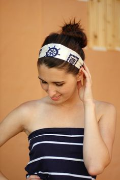 For Sara Vatch - Turn an old scarf into a headband (perhaps the one from Lolita's Closet)