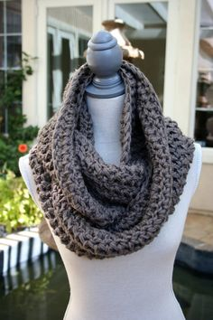 Infinity Scarf Brown by BirdhouseKnits on Etsy, $25.00