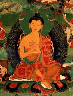 Nagarjuna, considered a mahasiddha—one who has reached the highest attainment.