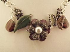 'Flowers and Pearls Necklace' is going up for auction at  9pm Thu, Jun 28 with a starting bid of $10.