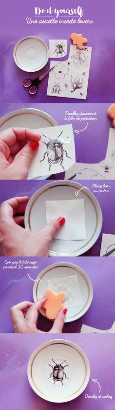 DIY : une assiette insecte lovers | Poulette Magique