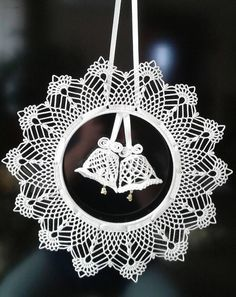 Best 12 Elegant Christmas decoration – snowflakes mobile – holiday decor – crochet snowflakes and wood – SkillOfKing. Crochet Christmas Decorations, Crochet Ornaments, Crochet Decoration, Holiday Crochet, Crochet Snowflakes, Handmade Ornaments, Christmas Wreaths, Christmas Crafts, Christmas Videos