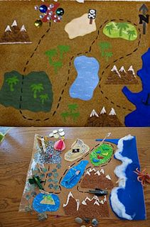 Making a Sensory pirate (or Pauls journeys?) Play Mat and Peg Characters Sensory Activities, Sensory Play, Activities For Kids, Crafts For Kids, Sensory Bins, Holiday Activities, Felt Play Mat, Play Mats, Toddler School