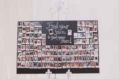 """Find your face to find your place"" seating chart -- use polaroids of guests! // photo by BrettJessica.com"