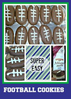 Super easy, last minute football cookies for your Super Bowl Party   Thrifty NW Mom