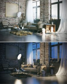 Loft Livingroom by Harun Kaymaz