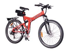 GET $5 CASH BACK WITH CODE PINTEREST!! The X-Cursion is a Lithium Battery powered Electric Bicycle capable of folding in half for easy transportation and it runs on a 300 Watt rear hub motor.
