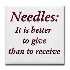 Very true. I'm the nurse that's scared of being stuck by needles but I don't mind doing the sticking.