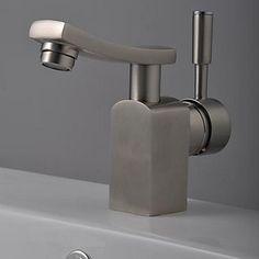 Fini chrome en laiton massif lavabo robinet T0542