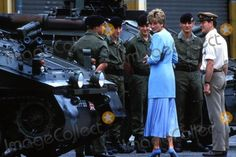 Princess Diana at Howne Barracks at Winsen West Germany 07-29-1993 0138893 Photo by Dave Chancellor-alpha-Globe Photos