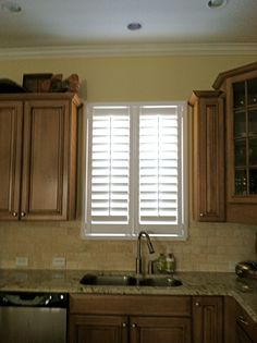 Composite Shutters Are The Perfect Treatment For A Kitchen Window. Theyu0027re  Water Resistant