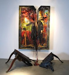 Valerie Hegarty's Paintings and Installations Literally Drip out of Their Frames