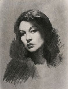 Charcoal Portrait Study Drawings. By Louis Smith.