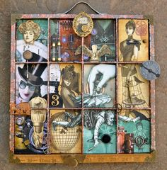Love the way she overlaps images into the next box. (made by Jane Dean)