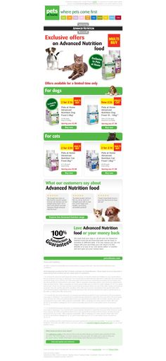 Pets at Home email design