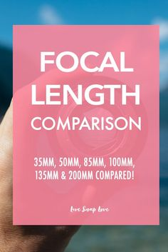 A useful comparison between different lens focal lengths - click through to see all the example images and the differences between them!