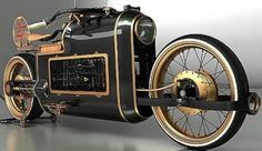 Mikhail Smolyanov initially wanted to create a bike with racing car designs of the 1920s are fitted with aircraft engines. However, he instead makes the motor's steampunk style, stylish design combined steam engine era of the 19th century with elements of science fiction or fantasy.