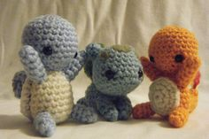 These are so adorable! I must have!!  Three Piece Kanto Pokemon set Charmander Bulbasaur Squirtle Made to Order on Etsy, $25.32 AUD