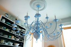 DIY Painting Crafts: DIY: Painting a Brass Chandelier