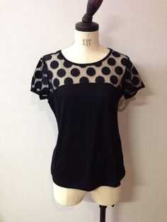 BANANA REPUBLIC dot lace tee