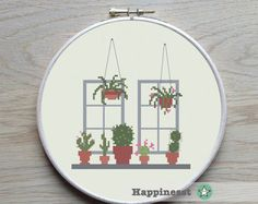 Cross stitch pattern cactus collection sampler by Happinesst