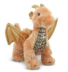 This is a Luster Dragon Plush Figure that's produced by the good folks over at Melissa and Doug. They always have the neatest traditional toys. This plush is super cute. Recommended Ages: All ages Condition: Brand New Dragon Pet, Baby Dragon, Pet Toys, Kids Toys, Baby Toys, Dragons Online, Pikachu, Melissa & Doug, Gold Fabric