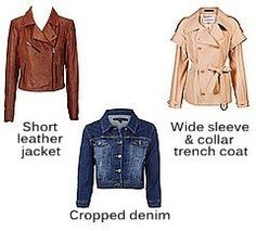 Ideal jackets for Pear body shapes
