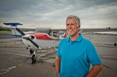 Hobbyist pilot Rick Westcott, pictured at RL Jones Jr. Airport, made a career detour that took him from young police officer to middle-aged college student to attorney and city councilor.