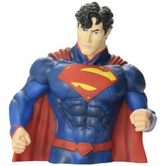 This is the DC Comics New 52 Superman Bust Bank. Superman looks great here, in his New 52 style. If you're not familiar, a Bust Bank is a statue that is made of a durable resin, that also doubles as a